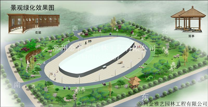 大型广场景观绿化设计