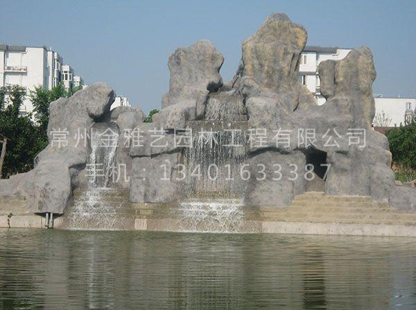 建筑公司门前塑石假山