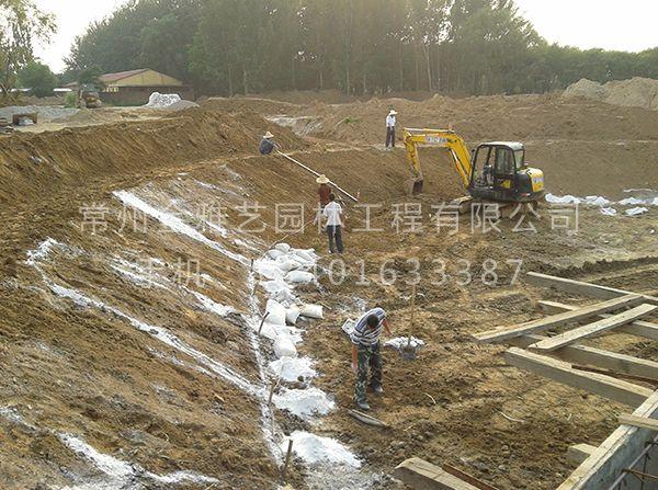 水系驳岸施工现场 (2)